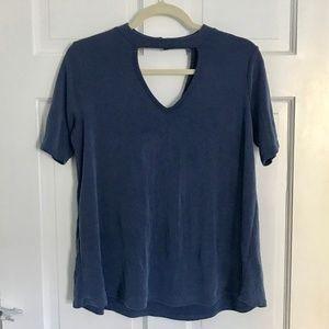 Kim & Cami Blue Short Sleeve Top